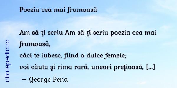 Comentarii Despre Poezia Cea Mai Frumoas