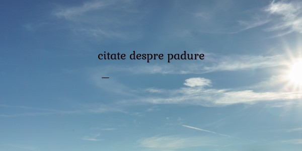 citate despre padure Poezii despre citate despre padure citate despre padure
